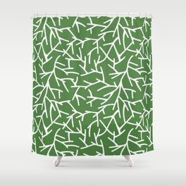 Branches - green Shower Curtain