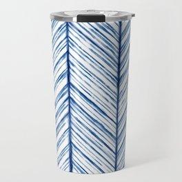 Shibori Herringbone Pattern Travel Mug