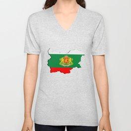 Bulgarian map Unisex V-Neck