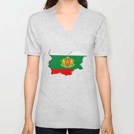 Bulgarian map Unisex V-Neck