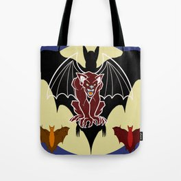 Medieval Gargoyle,Bats and Moon by Lorloves Design Tote Bag