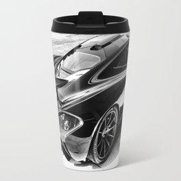 McLaren P1 Black & White Travel Mug