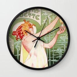 Art Nouveau Absinthe Robette Ad Wall Clock