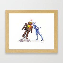 Sweet, Sweet Robot Love Framed Art Print