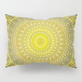 Bright Gold Navy Bohemian Mandala Pillow Sham
