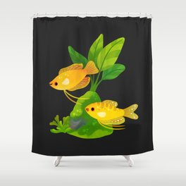 Fresh water fish and plants 2 Shower Curtain