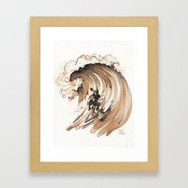 Coffee Art-Surfer Framed Art Print