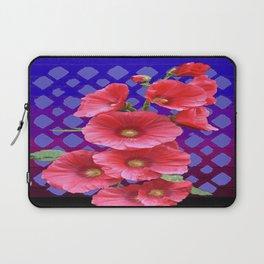 Deco Blue-purple Patterned Pink floral Modern Art Laptop Sleeve