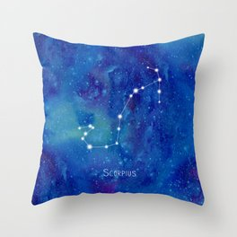 Constellation Scorpius Throw Pillow