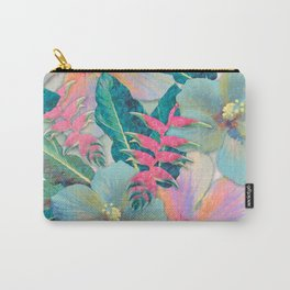 Aqua Ginger Alohas Carry-All Pouch