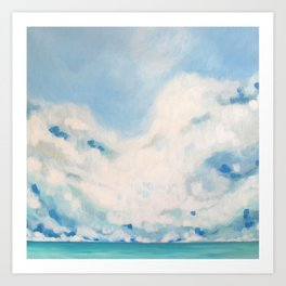 white blur Art Print