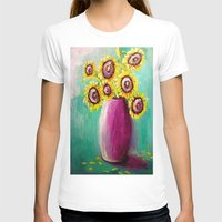sunflowers T-shirts featuring sunflowers by Michael Anthony Alvarez