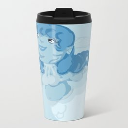 Blue Mermaid Metal Travel Mug