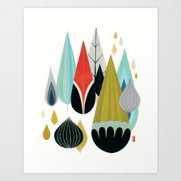 Mod Drops Art Print
