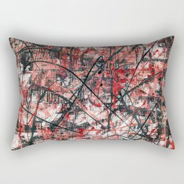 Imogene in Red Rectangular Pillow