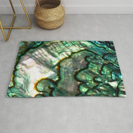 Shimmering Green Abalone Mother of Pearl Rug