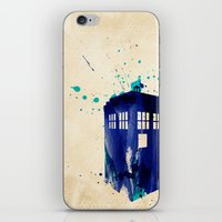 doctor iPhone & iPod Skins featuring Doctor Who TARDIS Rustic by Art by Colin