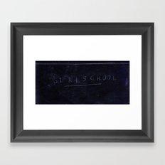 GIRLSCHOOL Framed Art Print