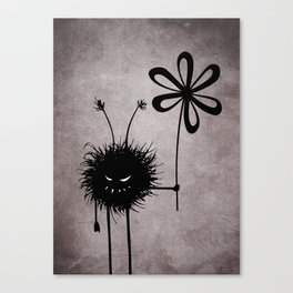 Evil Flower Bug Canvas Print