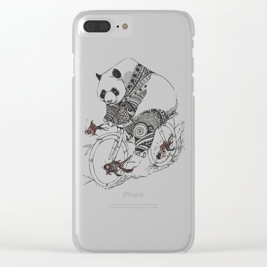 Panda and Follow Fish Clear iPhone Case