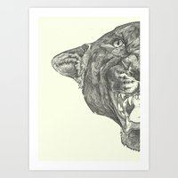panther Art Prints featuring Panther by Breakell