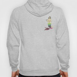 mermaid with braided hair and a sword Hoody