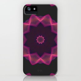 Electric heart made of strings iPhone Case