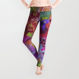 The Floral Imagination Dragon Leggings