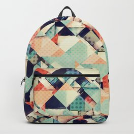 Jumble of Colors And Texture Backpack