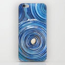 Blue Swirls iPhone Skin