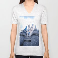 Disney Castle In Color Unisex V-Neck