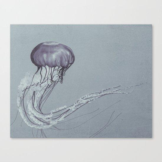Black and White Jellyfish II Canvas Print