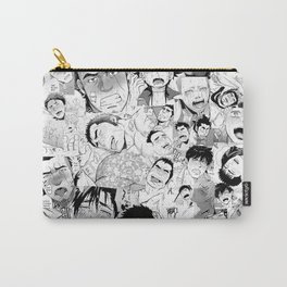 Ahegao Hentai Manga Guys Collage in B&W (Bara/Doujinshi) Carry-All Pouch