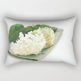 Hydrangea Annabelle, nostalgic style Rectangular Pillow