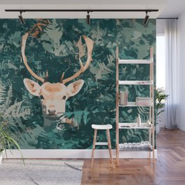 Oh Deer! Pop-art style / boho / influence / fall season Wall Mural
