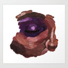 Eye acrylic painting Art Print