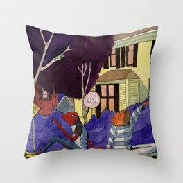 Dead End Frog Kids Throw Pillow