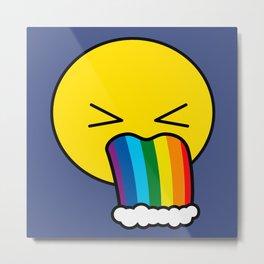 Puke Rainbow - Emoji Metal Print