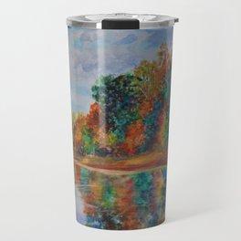 Autumn By the Lake Travel Mug