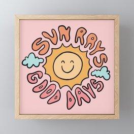Sun Rays Good Days Framed Mini Art Print