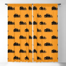 Classic American Thirties Hot Rod Car Silhouette  Blackout Curtain