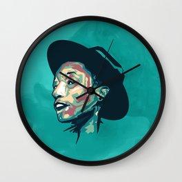 Pharrell portrait Wall Clock