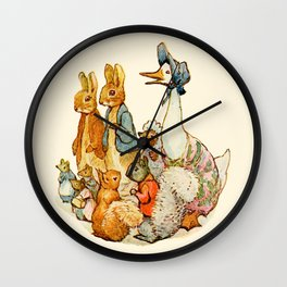 Bedtime Story Animals Wall Clock
