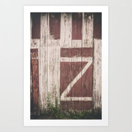 A Barn with a Z on it Art Print