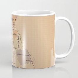 Regions of the United Kingdom vintage map Coffee Mug