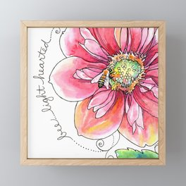 """bee light-hearted"" botanical watercolor inspiration art Framed Mini Art Print"