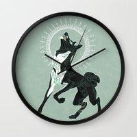 saga Wall Clocks featuring Saga of Lord Emil by CanisAlbus