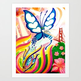 """SF Butterfly"" by Adam France Art Print"