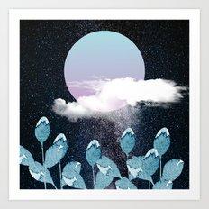 Moon Dew Art Print