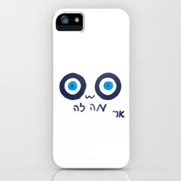 *notices evil eye* iPhone Case